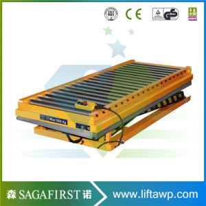 Hydraulic Furniture Wood Lifting Roller Platform Conveyor Electric Lift Tables pictures & photos