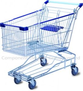 Supermarket Trolley, Shopping Trolley, Bigger Volume Trolley Cart (SY-M-120L) pictures & photos