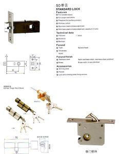 50 Standard Lock Mortise Lock Body pictures & photos