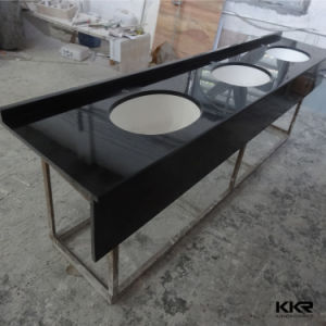 Kingkonree Modern Solid Surface Hotel Bathroom Vanity Top pictures & photos