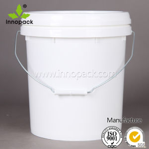 20L Virgin PP Paint Plastic Bucket with Metal Handle and Lid pictures & photos