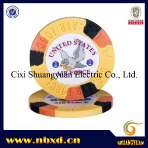 9.5g 3-Tone Sticker Poker Chip pictures & photos