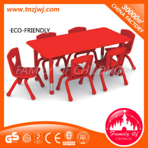Red Plastic Furniture Kids Long Table for Library pictures & photos