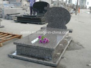 G664 Misty Brown Granite European Memorial Gravestone for Cemetery pictures & photos