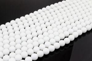 Porcelain White Natural Stone Round 6 8 10 12mm Natural Polishing Abrasive Gemstone pictures & photos