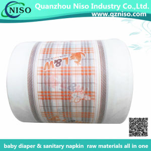 Brethable Center Laminated PE Film Nonwoven for Baby Diaper Backsheet pictures & photos