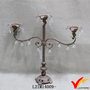 Scrolled Rustic Shabby Small Metal Candle Stand pictures & photos
