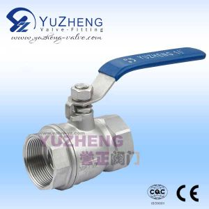 2 Piece Stainless Steel Thread Floating Ball Valve pictures & photos