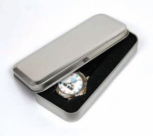 Luxury Watch Packaging Metal Box with Engrave Logo pictures & photos