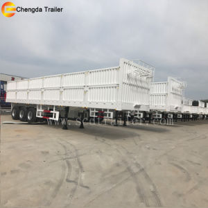 50ton 60ton 3 Axles Side Wall Fence Cargo Box Trailers pictures & photos