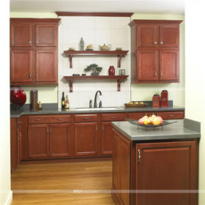 Italian Style Wood Kitchen Cabinets with Best Countertop China Supplier pictures & photos