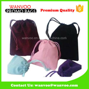 Eco-Friendly Promotion Drawstring Velvet Gift Bag for Jewelry pictures & photos