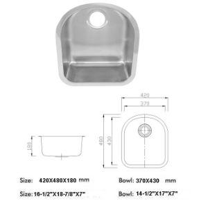 Stainlesss Steel Sink, Undermount Kitchen Sink (LA115) pictures & photos