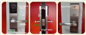 Electronic Smart Safe RFID Card Single Latch Hotel Door Lock pictures & photos