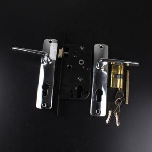031 High Quality Aluminum Handle Iron Plate Door Handle Lock pictures & photos