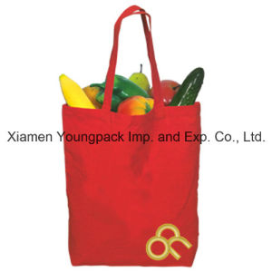 Multi-Purpose Customized Red Reusable Cotton Canvas Cloth Shopping Bag pictures & photos