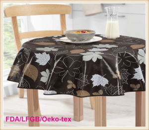 Round Printed PVC Table Cloth Factory pictures & photos