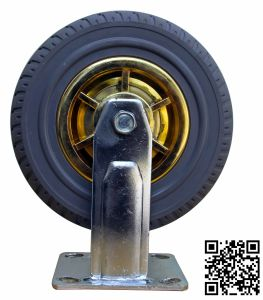 Heavy Duty Grey Rubber Fixed Tyre Caster pictures & photos