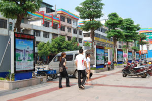 Advertising Rotating Sign Outdoor LED Lighting Advertising Light Box pictures & photos