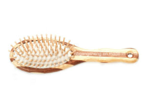 Natural Bamboo Brush Hair Comb China Supplier OEM pictures & photos