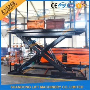 3.5m Stationary Hydrulic Pit Car Lift for Sale pictures & photos