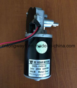 24V DC Worm Gear Motor for Car pictures & photos