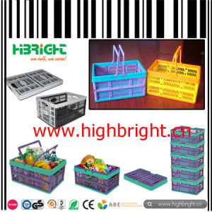 Supermarket Stackable Plastic Vegetable and Fruit Transport Crate pictures & photos