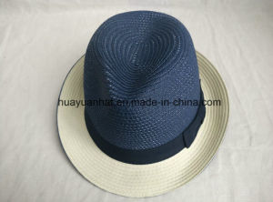 90%Paper 10% Polyester with Bowknot Fedora Hats