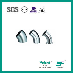 Stainless Steel Sanitary 45D Bend Elbow with Clamp (SF1000007) pictures & photos