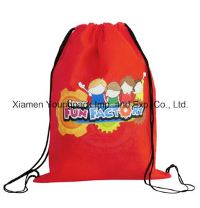 Girls Promotional Cheap Custom Waterproof Nylon Kids Drawstring Swimming Bag pictures & photos