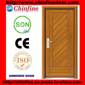 Steel-Wood Armored Doors with Low Price (CF-M001) pictures & photos