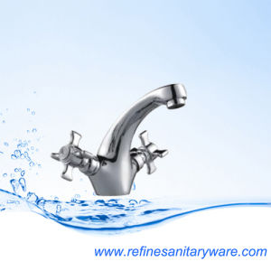 Hot Sale Bathroom Waterfall Tap Mixer Basin Faucet (R1007850CY) pictures & photos