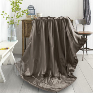 Chocolate Color Silk Blanket for Home in Summer pictures & photos