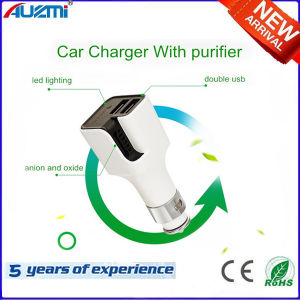 Mult-Function Dual USB Car Charger with Anion Air Clean pictures & photos