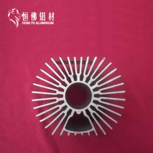 6063t Aluminum Extruded Profile of Heat Sink pictures & photos