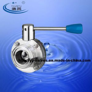Idf Male Butterfly Valve for Food Industry pictures & photos