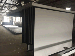 Hot Sale High-Quality Portable Floor Projection Screen with Portable Bracket pictures & photos