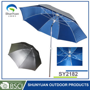 210d Oxford with Silver Coating Fabric Fiber Outdoor Fishing Umbrella (SY2182)