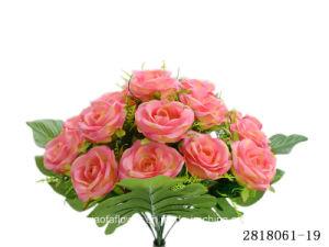Artificial/Plastic/Silk Flower Rose Bush (2818061-19) pictures & photos