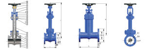 Factory of ANSI Standard Bellows Seal Gate Valve with Price