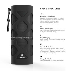 Portable Bluetooth Speaker with Built-in Microphone (Black) pictures & photos