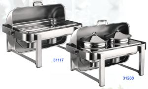 Full Size Hydraulic Roll-Top Chafing Dish Set with Food Pan/Bain Maries (31117/31217/31288) pictures & photos