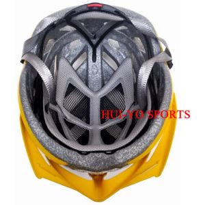 Big Size Bike Helmet, Yellow Bicycle Helmet, Blinking Road Helmet pictures & photos
