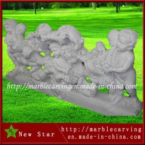 Cheap Outdoor Flower Carving White Stone Marble Balustrades pictures & photos