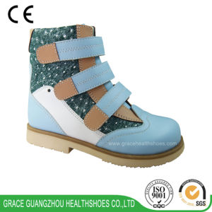 Grace Ortho Children Orthopedic Shoes Fabric+Leather Shoes pictures & photos