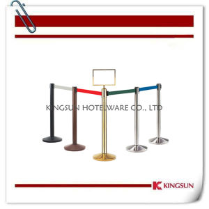 Metal Retractable Belt Stanchion with Brake and Cement Dome Base pictures & photos