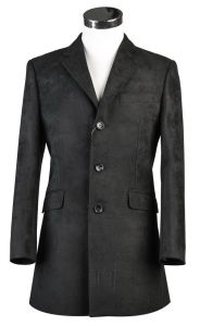 Black 3 Button Men Coat