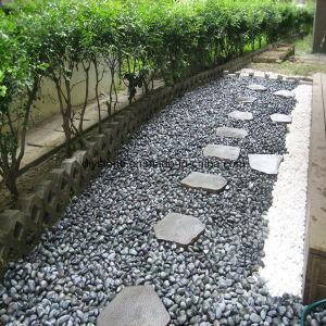 Black Pebble Stone Garden Decoration pictures & photos