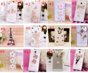 Cute Bling Diamonds Pearls Crystal Rhinestone Clear Hard Back Cover Case