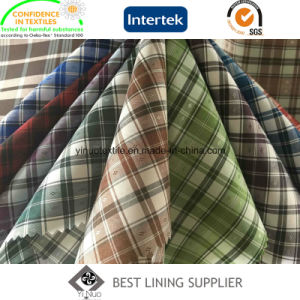 100% Polyester Men′s Jacket Check Lining Fabric Supplier pictures & photos